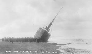 S. T. Commandant Bultinct O95 on Rossall Beach