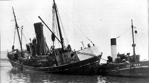 S.T. Loch Torridon FD44 under tow after collision