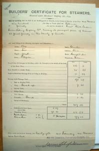 Robinia Builders Certificate